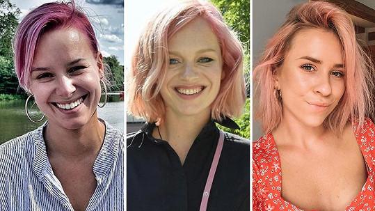 Tyto české krásky letos oživily svoje vlásky růžovým přelivem.