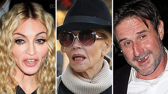 Celebrity, které se hollywoodským úsměvem nepyšní.
