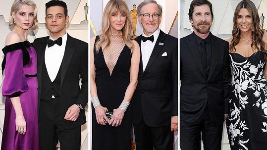 Slavné páry na udílení Oscarů.