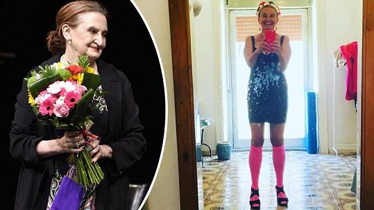 Eva Holubová se předvedla v hodně zvláštním outfitu.