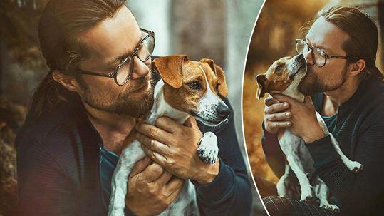 Richard Krajčo se zachráněným psem