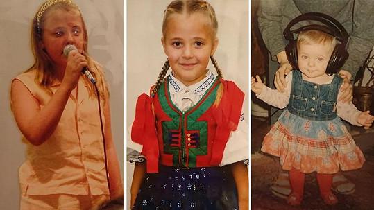 Anna Slováčková se pochlubila archivními fotkami z dětství.
