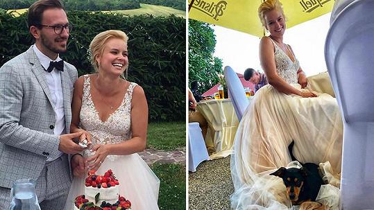 Patricie Pagáčová se podělila o další šťastné momenty ze své svatby.