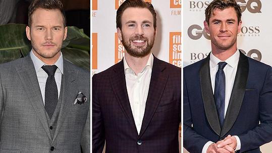 Všichni tři Chrisové patří do týmu Avengers.
