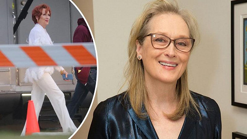 Vážně je tohle Meryl Streep? Herečka je díky červeným vlasům téměř knepoznání