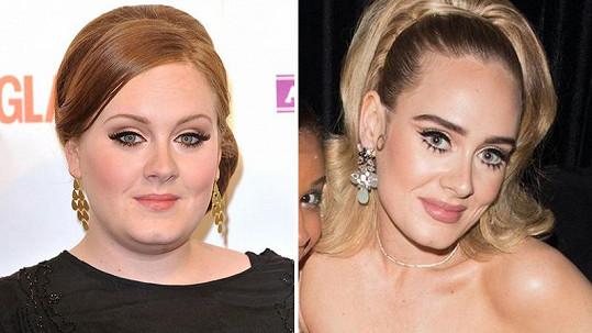 Adele výrazně zhubla.