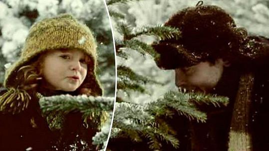 Sandra Flemrová a Josef Polášek ve slavné vánoční reklamě z roku 2003