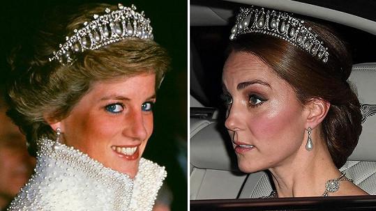 Vévodkyně Kate se opět objevila v tiáře princezny Diany.