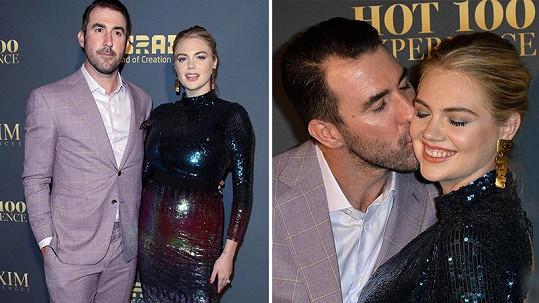 Kate Upton doprovodil na večírek manžel.