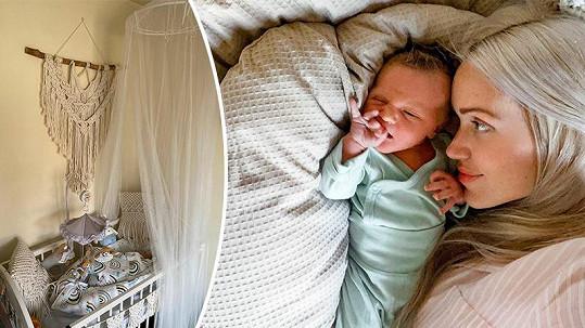 Kateřina Lébr se synem