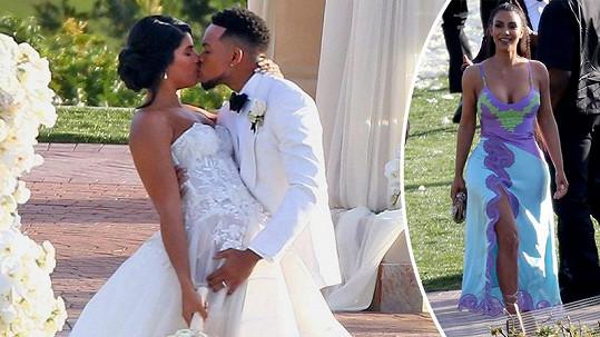 Kim Kardashian přišla na svatbu rapera Chanceho.