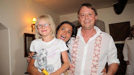 Mahulena Bočanová s exmanželem Viktorem Mrázem a dcerou Márinkou