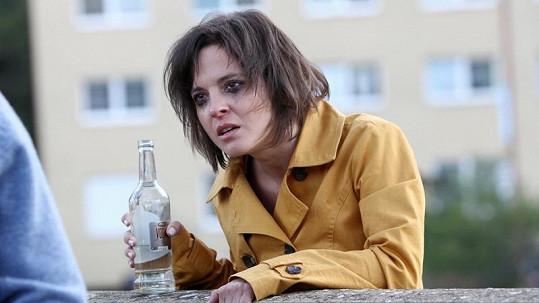 Kristýna Janáčková při náročné scéně.