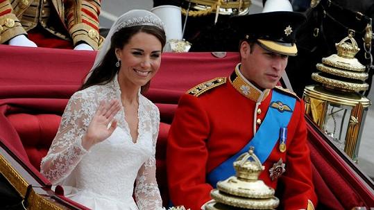 William a Kate poté, co si řekli své ano.