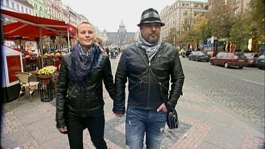 Petr Kolář s milenkou Lenkou.