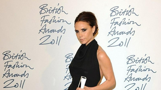 Oceněná Victoria Beckham.