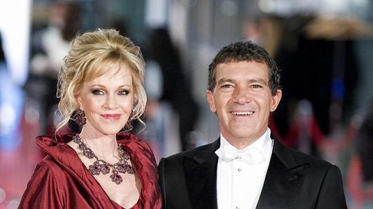 Antonio Banderas s manželkou Melanií Griffith.