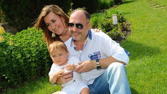 Michal David s rodinkou.