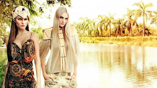Isabeli a Carol v kampani značky Morena Rosa.