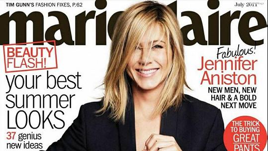 Jennifer Aniston na obálce časopisu Marie Claire.