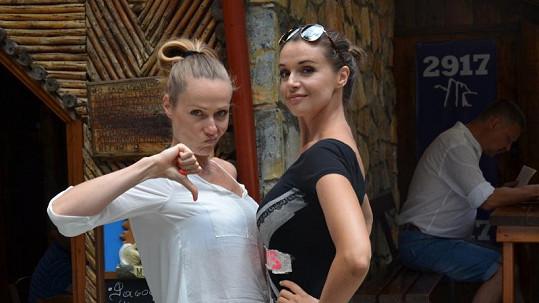 Iva Kubelková a Pavla Vitázková si neporovnávaly jen výšku.