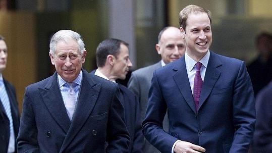 Princ Charles se svým synem Williamem.