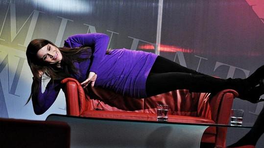 Bočanová už se válí na gauči v TV Barrandov.