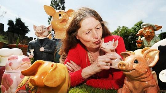 Anne Langton miluje prasátka ve všech podobách.