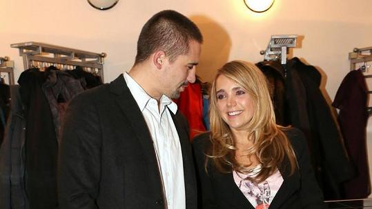 Lucie Vondráčková s odloučeným manželem Tomášem Plekancem.