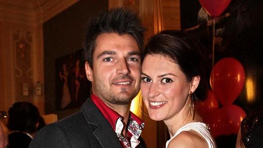 Mirka Košťanová s novým přítelem Petrem.