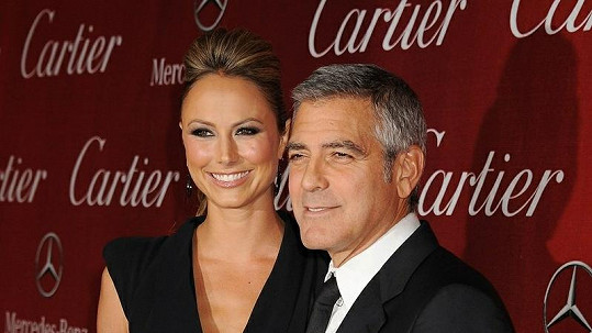 Stacy Keibler s Georgem Clooneym.