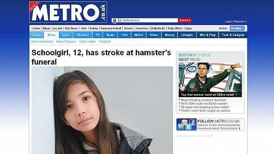 Lékaři věří, e se dívka plně uzdraví.