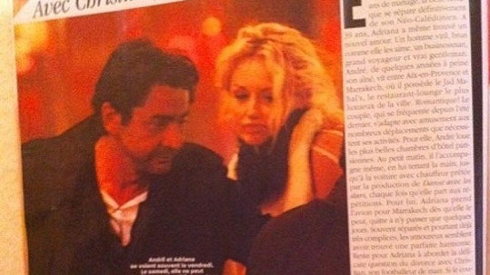 Fotografie Sklenaříkové s novým milencem se objevily ve francouzském magazínu Voici.