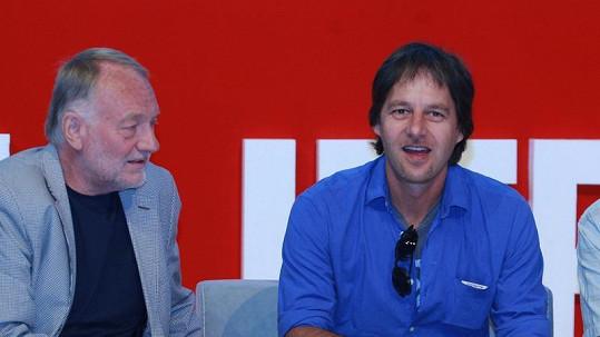Pavol Habera (vpravo) s Luďkem Sobotou.