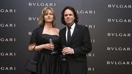 Janek Ledecký s manželkou Zuzanou