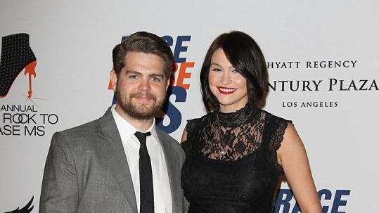 Jack Osbourne s manželkou Lisou.