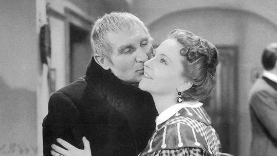 Zita s Jaroslavem Vojtou ve filmu Pantáta Bezoušek (1941).