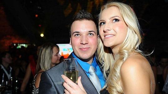 Jitka Nováčková s přítelem Markem Ferenčíkem na finále České Miss 2011.