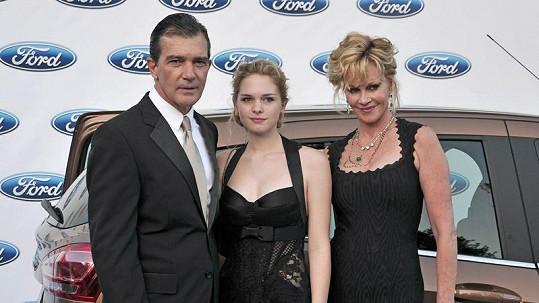 Antonio Banderas, Stella a Melanie Griffith.