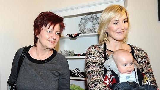 Jovanka Vojtková s tchyní, maminkou Pepy Vojtka.