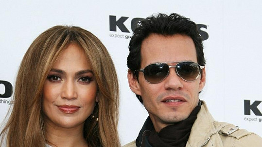 Jennifer Lopez a Marc Anthony.