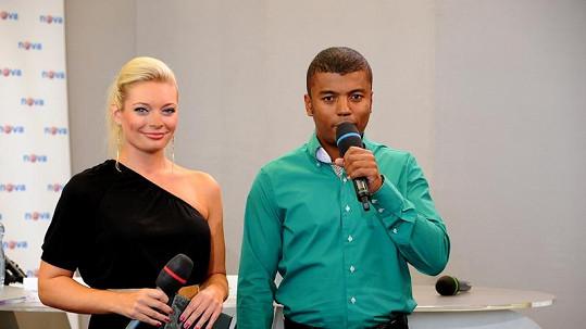 Lucii Borhyové a Rey Koranteng na tiskové konferenci.