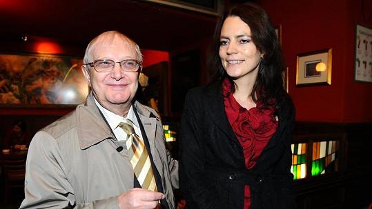 Jiří Suchý s manželkou.