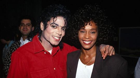 Whitney Houston a Michael Jackson.