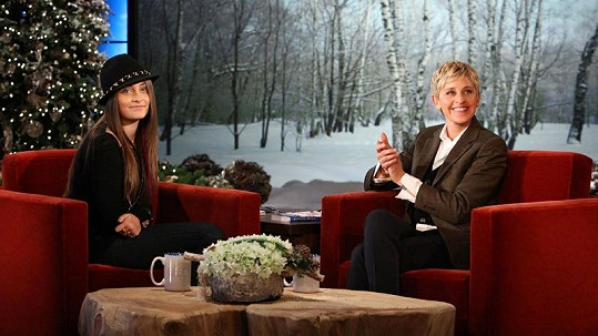 Paris Jackson byla hostem v The Ellen DeGeneres Show.
