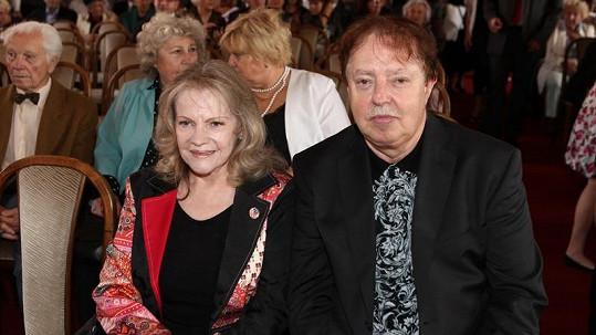Eva Pilarová s manželem Janem Kolomazníkem.