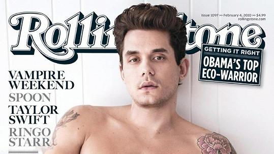 John Mayer na titulce časopisu.
