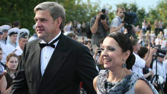 Larisa Bělobrova s manželem Sergejem Darkinem.