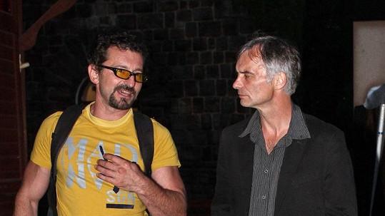Ondřej Vetchý s Ivanem Trojanem na párty.