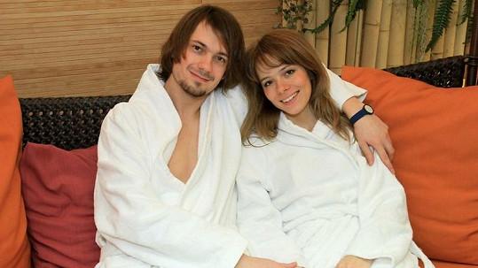 Lucie Černíková s přítelem Lukášem Pavlíkem.